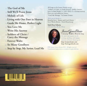 Living with One Foot in Heaven CD back cover